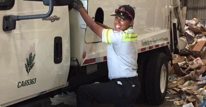 Recycling Driver Kiara Selected as Corpsmember of the Year